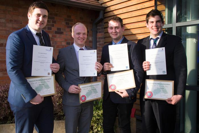 Graduates L:R - Ian Atkinson, William Alexander, Richard Barrow and John Davies