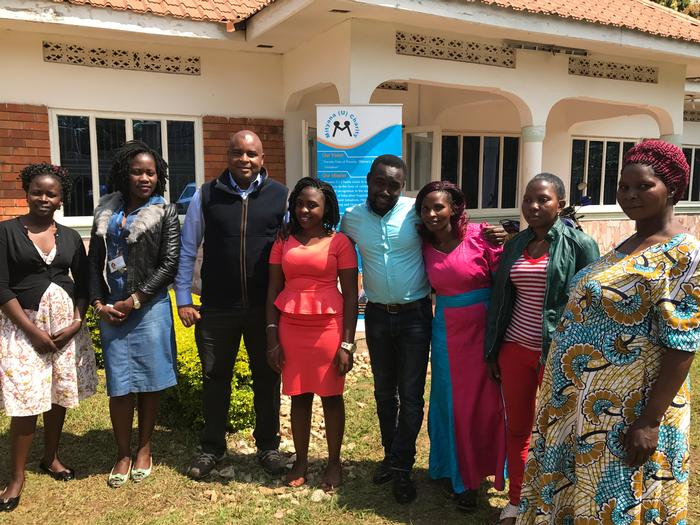 Ed with some of the trainers and representatives of the Mityana Uganda Charity