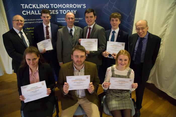 William Flittner (front middle) with the other Douglas Bomford Trust scholars and Dr Miller, Mr David White and Mr Plom
