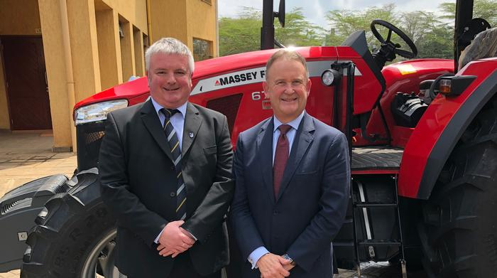 Dr Andy Wilcox at the launch with Gary Collar is Senior Vice President of AGCO Asia  Pacific and Africa