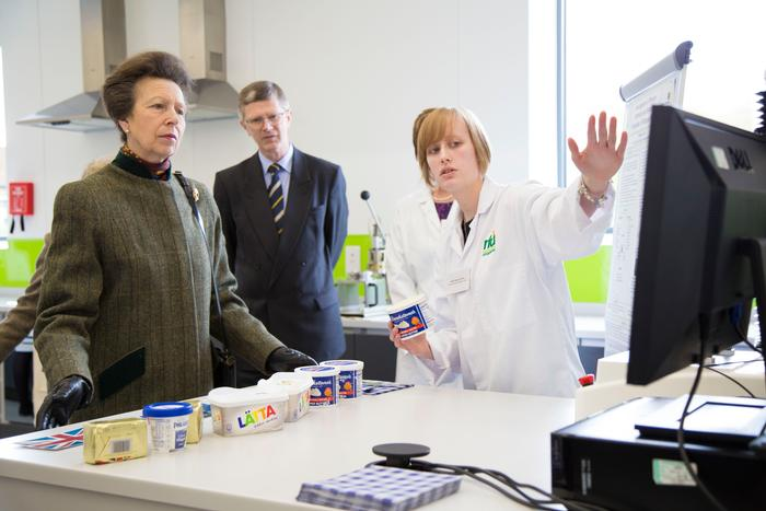 Her Royal Highness, The Princess Royal during her last visit to the University to open the Dairy Crest Innovation Centre