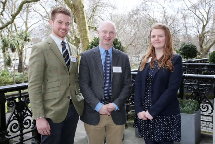 Paddy and Aimee with Professor Liam Sinclair, Harper Adams