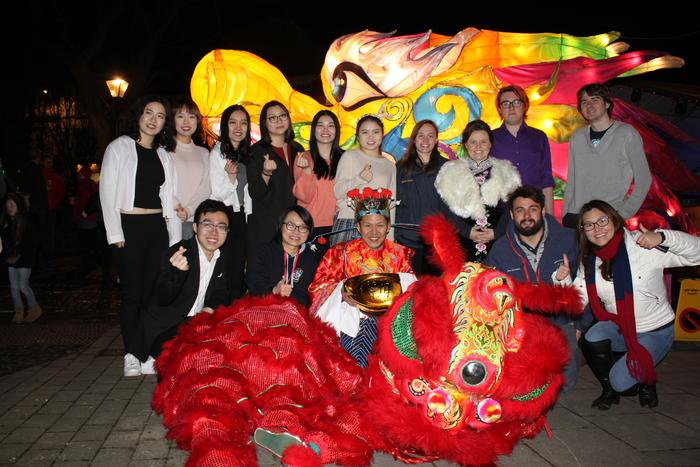 Students and staff at Newport's Chinese New Year celebrations
