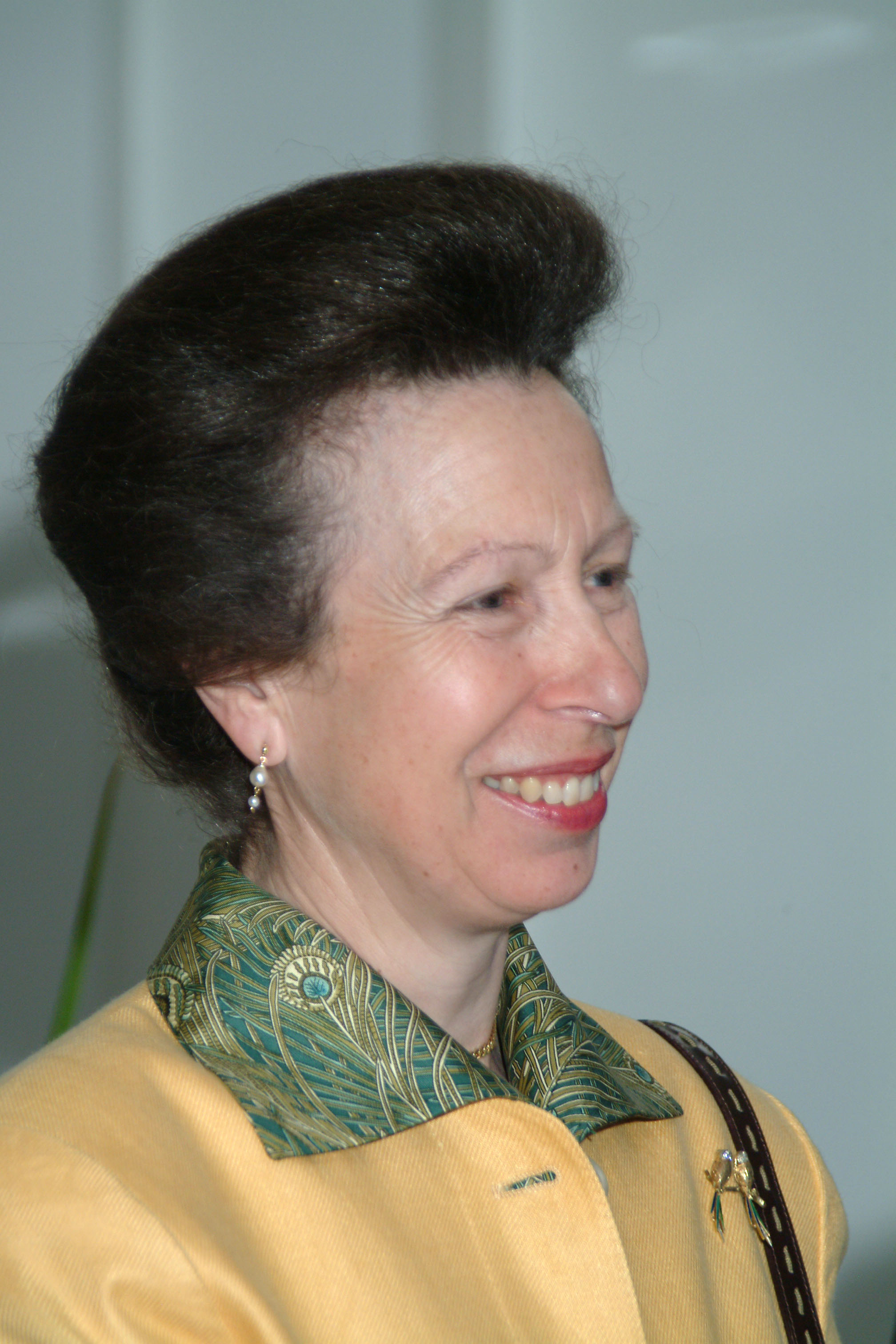 HRH The Princess Royal on her visit to Harper Adams in 2004