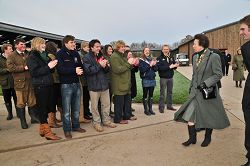 The Princess Royal meets undergraduate students at the dairy unit