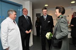 Ralph Early, Sir Roy McNulty, Dr David Llewellyn and The Princess Royal