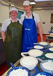 Husband and wife team - Beth and Martin Moyden making cheese at the WMRFA