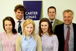 Carter Jonas prize winners with Andrew Black and Simon Keeble