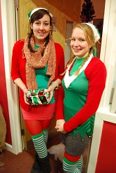 Student elves at the 2010 Christmas market