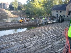 The hydro scheme under construction in Bromfield