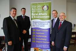 Dr Barrie Florey, Paul Horton, Niall Blackie and Steven Corfield
