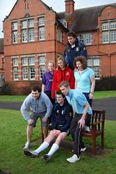 Students helping to promote the run by posing for the Shropshire Star