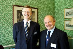 Dr David Llewellyn with Richard Bird