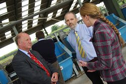 The Minister speaks to Dr Mark Rutter and Postgraduate researcher, Gemma Charlton, about dairy cow research.