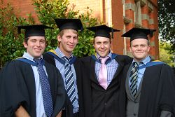 Boomer Birch (far right) on his graduation day, September 2009.