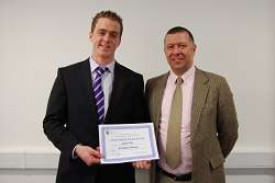 Graham Poole and Nigel Francis at the Development Trust Scholarship Presentation, earlier this year