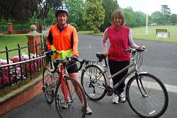Pam Whitehouse and Gabriella Parkes cycle regularly.