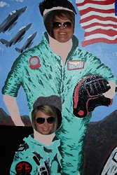 Students embracing the Top Gun decorations (more photographs below)
