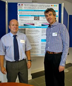 L-R Dr Pat Haydock, leader of the Nematology Group at Harper Adams is pictured with John Pickup from the Scottish Crop Research Institute (SCRI).