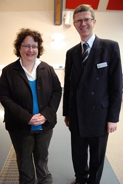 Elin Jones, Welsh Assembly Minister for Rural Affairs with Dr David Llewellyn, Principal of Harper Adams University College