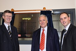 Dr David Llewellyn, Lord Taylor of Holbeach and Harper Adams Estates Manager Paul Moran