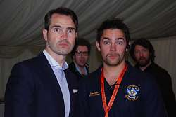 Jimmy Carr with Student Union President, Peter Dodd
