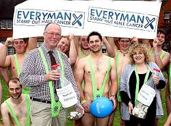 Students and staff wore their mankinis for a day in support of the Everyman Testicular Cancer Charity.