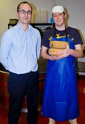 Martin Anderson, Manager of the West Midlands Regional Food Academy (WMRFA) is pictured with Martin Moyden, Director of Mr Moyden's Handmade Cheese