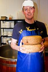 Martin Moyden with some of his handmade cheese
