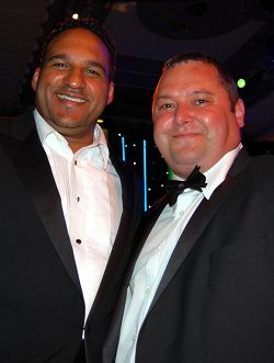 Michael Caines MBE with Harper head chef Wayne Wright