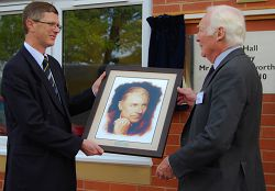 Mr Duckworth presented The University College with a portrait of his late-step-father, Richard (Dick) Silcock, after whom the new halls are named.