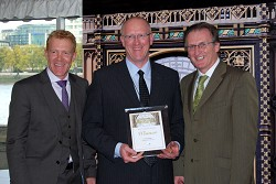 Adam Henson, David Mulligan and Carwyn Ellis