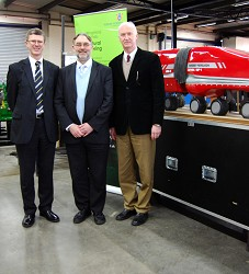 Principal, Dr David Llewellyn, Professor Kell and Head of Engineering, Professor Simon Blackmore