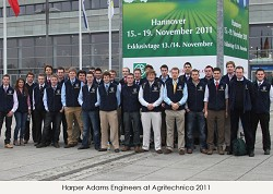 The students and staff at Agritechnica, Hanover, Germany