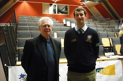 Professor Ian Crute with Harper Forum Chairman, Sam Bales