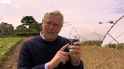 John Craven at Harper Adams. Image from BBC iPlayer