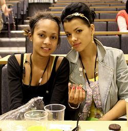 L-R Aaliyh Spencer and Kasia Sromola, both 16, from Birmingham attended the Summer School