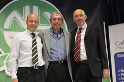 Sandy Mackenzie, Gordon Banks and Wayne Coombe