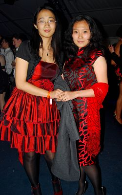 Two international students at this year's ball.