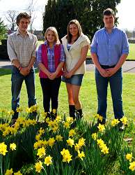 The new Welsh Committe l-r are Ed Roberts, social secretary, Catherine Bletcher, secretary, Kat Lewis, treasurer and Tom Bradbury, chairman.