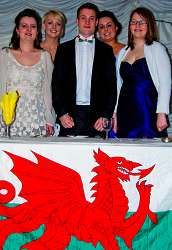 The outgoing Welsh Committee are pictured at the dinner. They are l-r