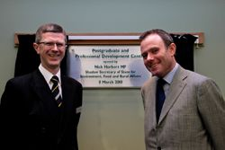 Dr David Llewellyn and Nick Herbert MP after the opening of the Postgraduate and Professional Development Centre