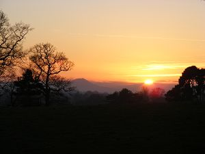 One of the photographs being exhibited - The Wrekin by David Coleman