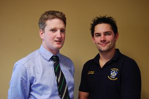 Matthew Stuart with Student Union President, Peter Dodd.
