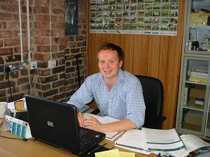 Tim at work during his placement at HarveyHughes Independent Rural Consultants