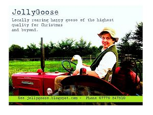 Will, pictured in the JollyGoose Christmas advertising campaign