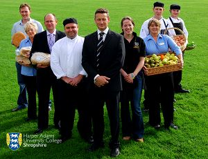 The catering team, led by David Nuttall