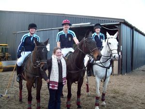 The winning team with polo captain Nicky Burrows