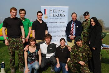 The organisers with Armed Forces and Help for Heroes representatives