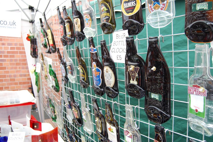 Beer bottle clocks